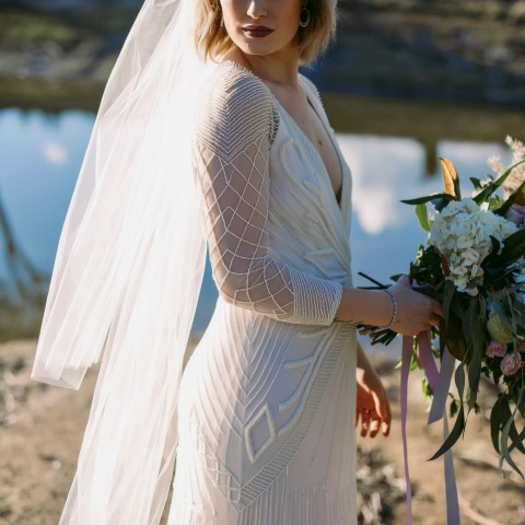 2 tier veil on country bride (Small)