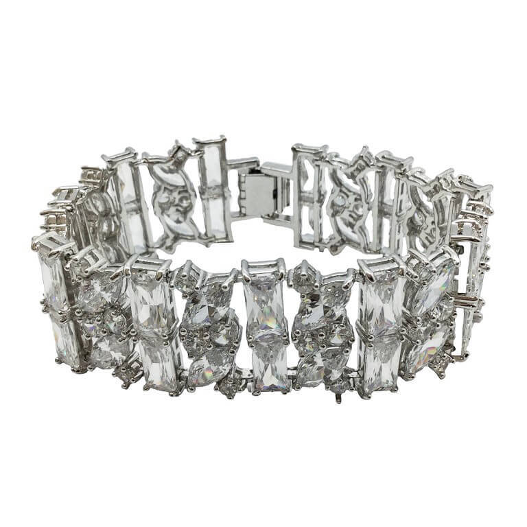 B004 bridal bracelet made of crystals