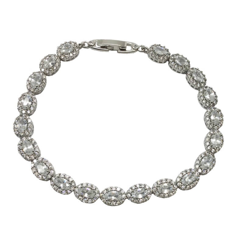 B0040[1] bridal bracelet made of crystals