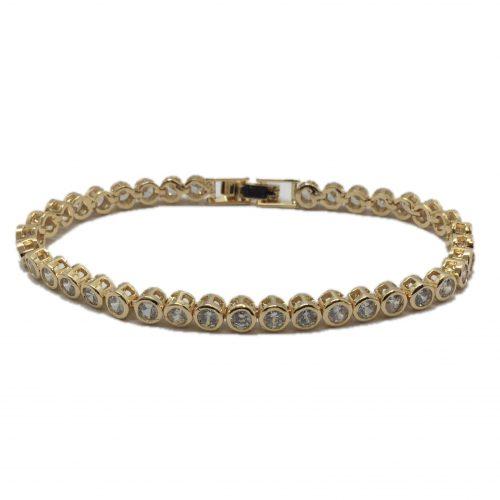 B017G bridal bracelet made of crystals
