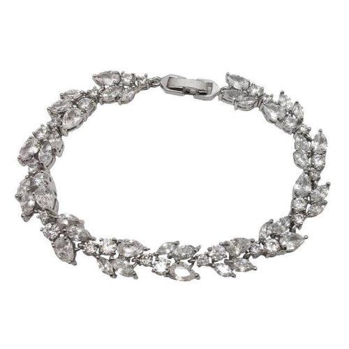 B018 bridal bracelet made of crystals