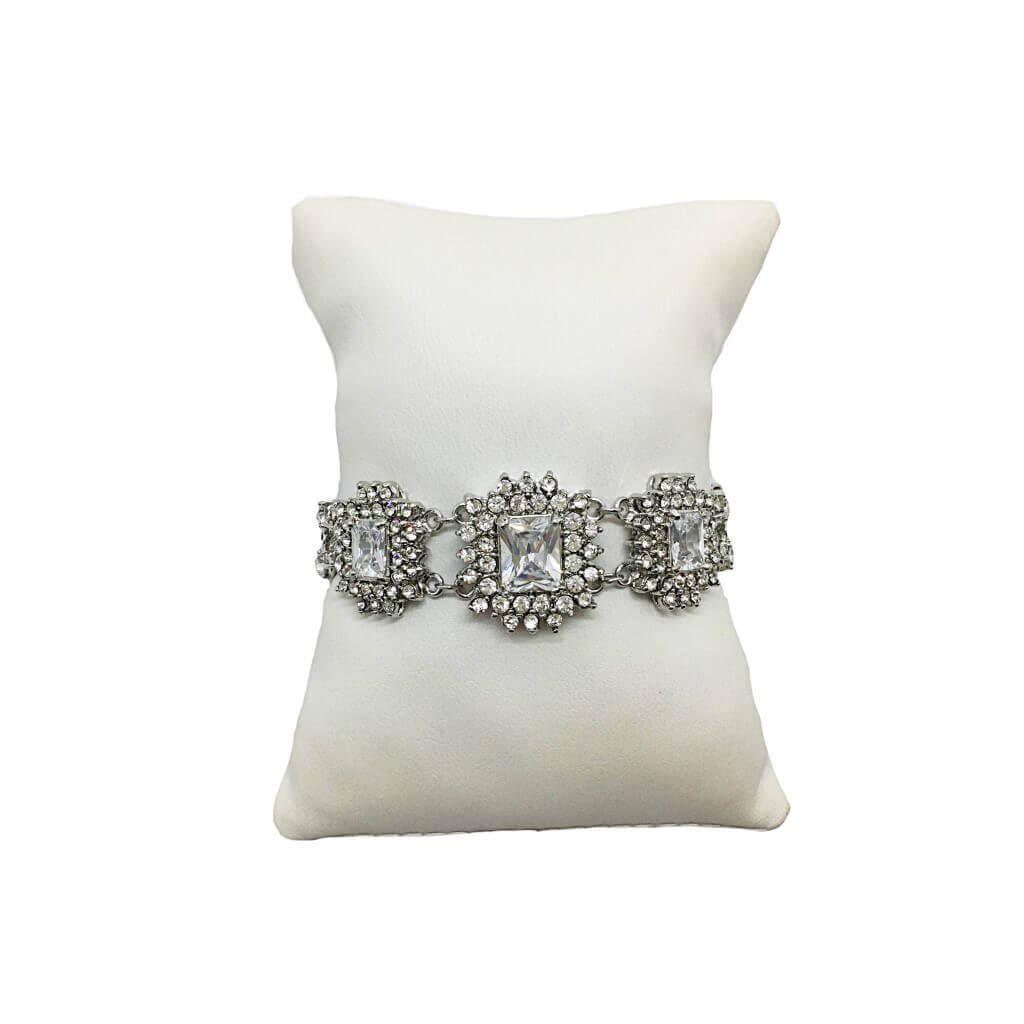 B0289 Swaroviski emerald cut crystal bracelet