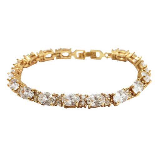 B0321G[1] Swaroviski emerald cut crystal bracelet