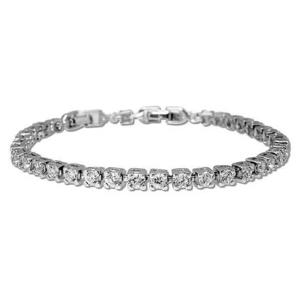 B1016S Swaroviski emerald cut crystal bracelet