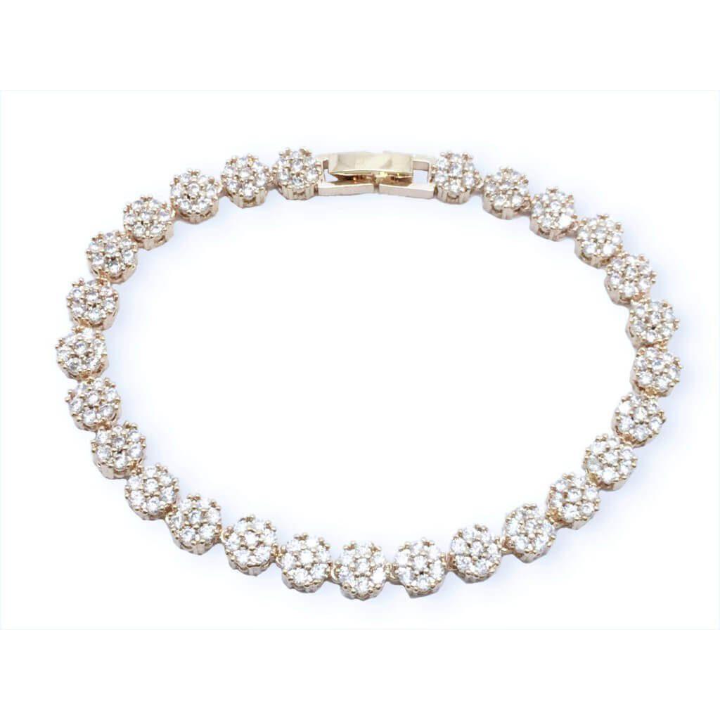 B102 Swaroviski emerald cut crystal bracelet