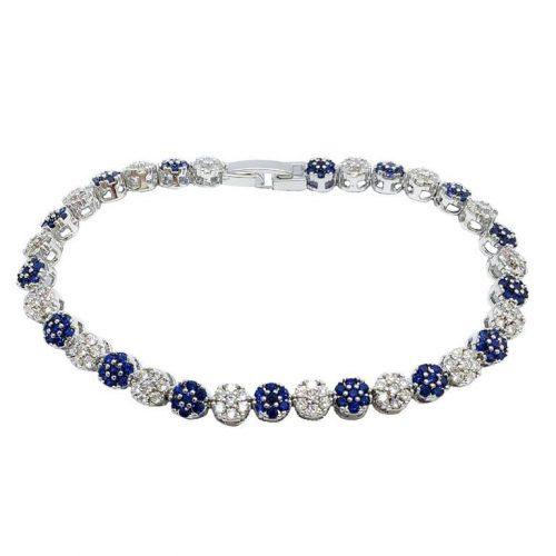 B102N[1] Swaroviski emerald cut crystal bracelet