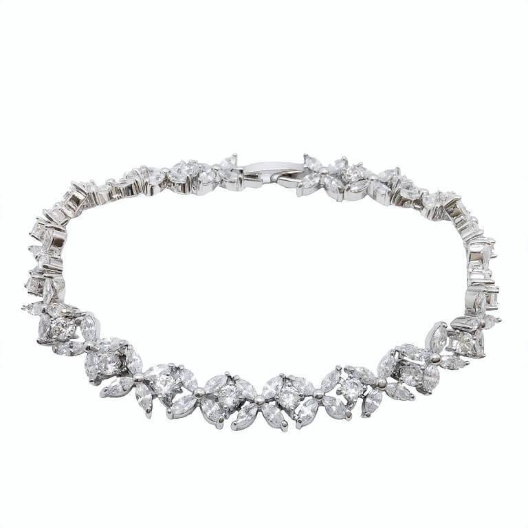 B104 Swaroviski emerald cut crystal bracelet