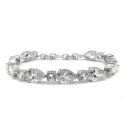 DIAMOND LIKE CRYSTAL BRIDAL BRACELET B1408