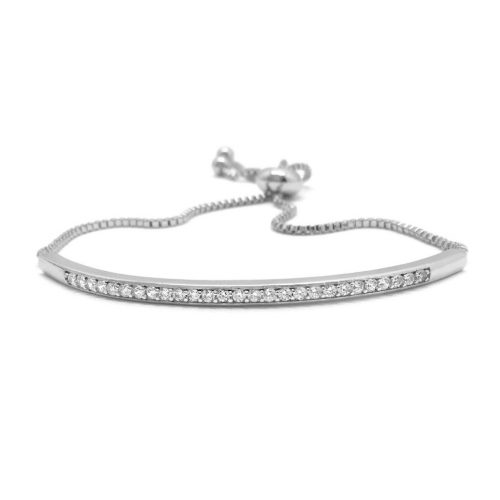 silver and crystal bridal bracelet