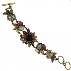 BF024 bridal bracelet with crystals