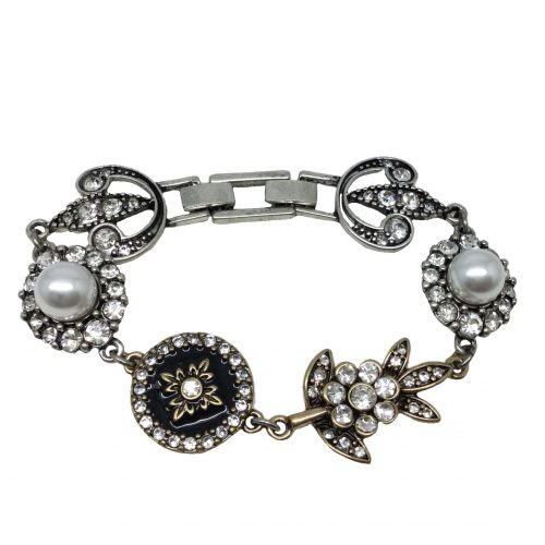 BF027 bridal bracelet with crystals