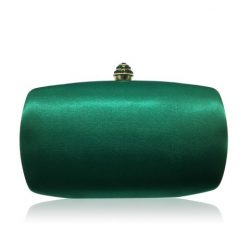 Stylish emerald green evening clutch with crystal clasp CL0291GR