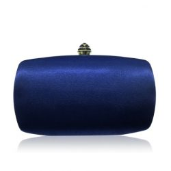 Stylish navy evening clutch with crystal clasp CL0291N