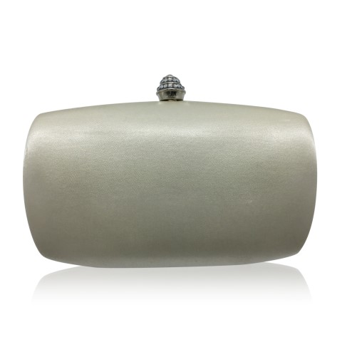 Ivory bridal clutch with crystal clasp CL0291