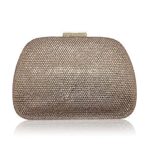 An exquisite crystal blush bridal or evening clutch CL0297