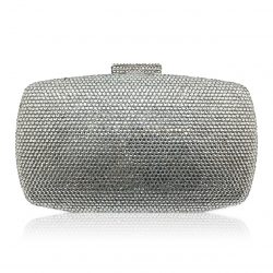 An exquisite crystal bridal or evening clutch CL0298