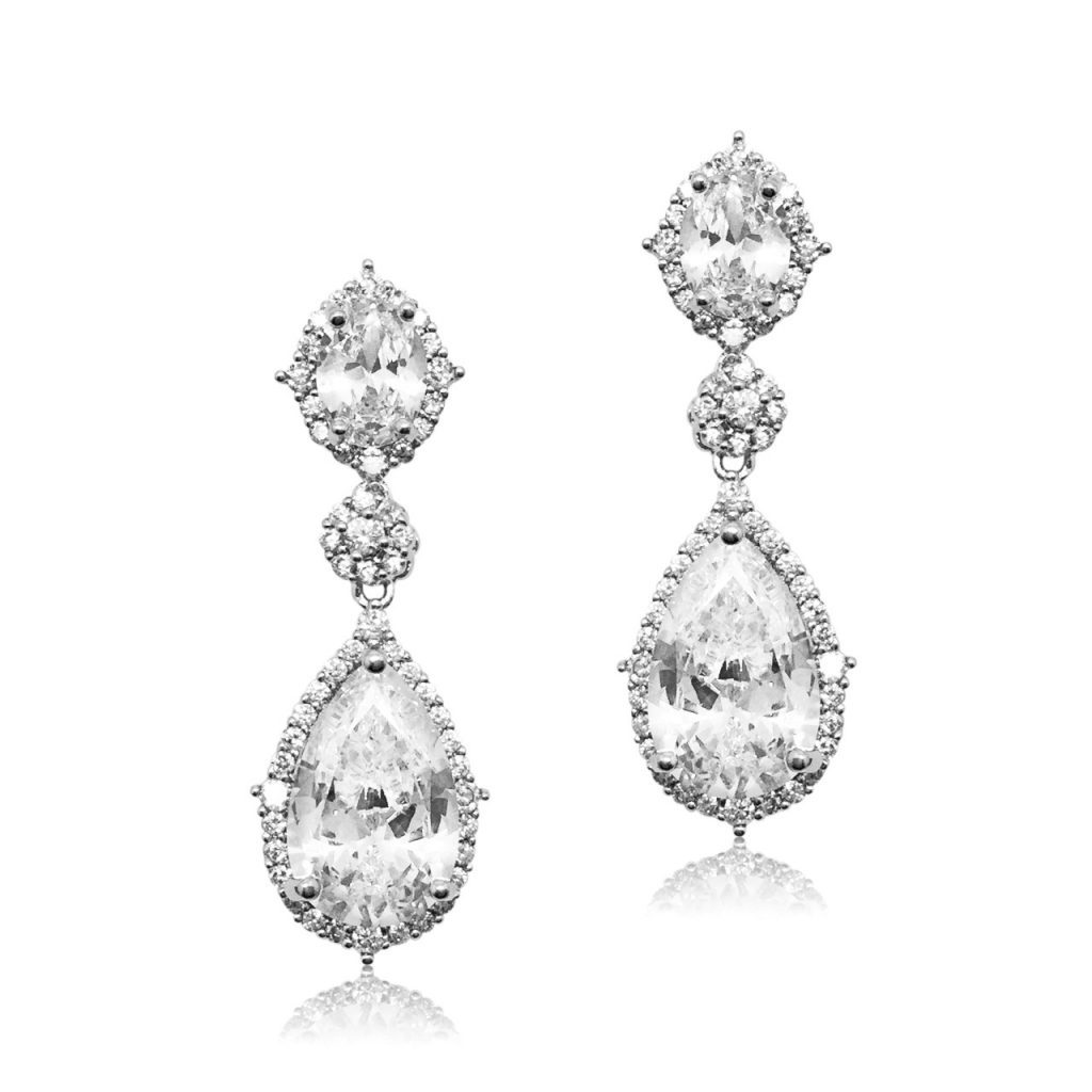Crystal bridal earring from Jeanette Maree Melbourne E0072