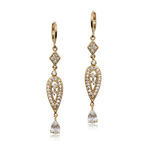 BRIDES MAID EARRING GOLD AND CRYSTALE249G