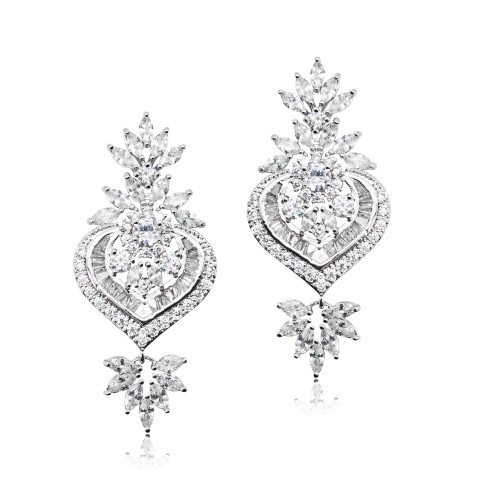 Crystal bridal earring from Jeanette Maree Melbourne E344