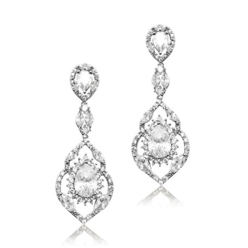 E4748 Statement bridal earring from Jeanette Maree Melbourne