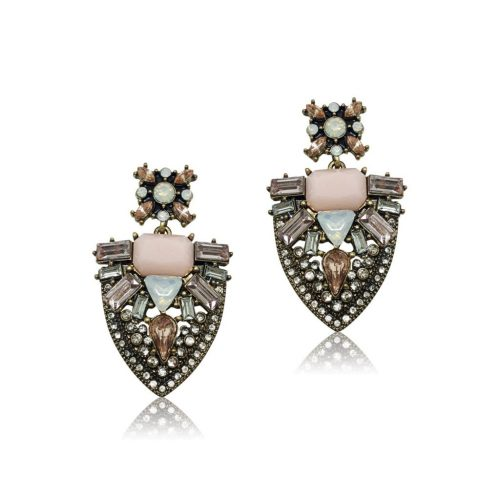 FASHION EARRING IN BLUSH TONES ON GOLD EF38