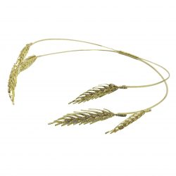 HB2272 A petite headband in sparkling golden metal base