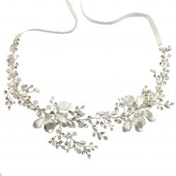 Jeanette Maree classic laced crystal & pearl wedding hairbandHB4116