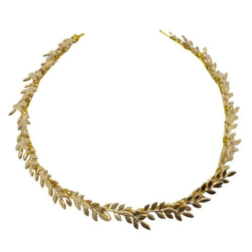 HC132272 A petite headband in golden metal base