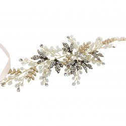 HC15030 pearl and crystal vintage style wedding hairband