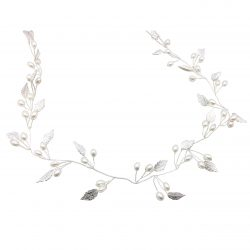 HC15035 pearl and crystal vintage style wedding hairband