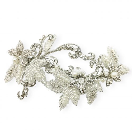 HC41253S pearl and crystal vintage style wedding hairband