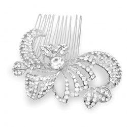 HC6570 stunning crystal wedding haircomb