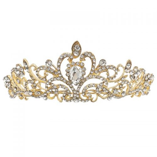 HT162G2 gold & diamante golden crown