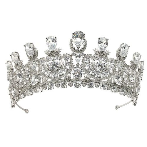 Silver Cubic Zircon Bridal Crown HT1801