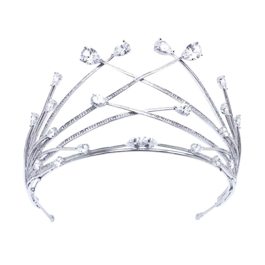 Modern bridal crown, HT1803