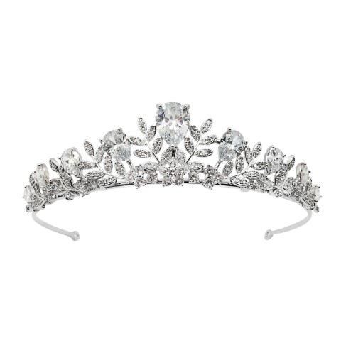 CRYSTAL BRIDAL CROWN, CUBIC ZIRCON, WEDDING TIARA HT1804_2