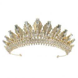 HT696 (TAMARA) wedding crown encrusted with crystal