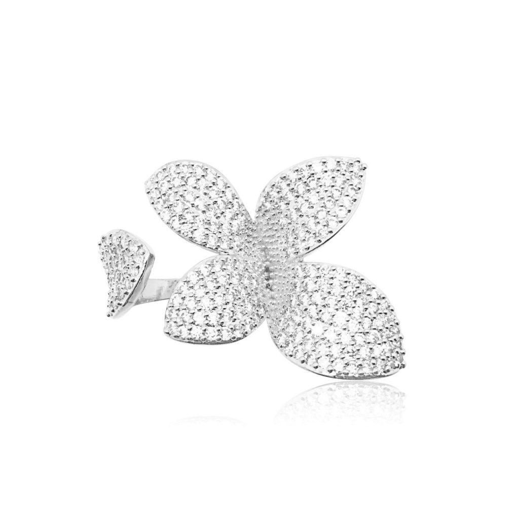 Silver leaf ring R1891