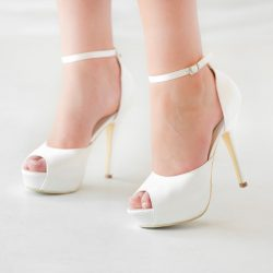 Jeanette Maree sophisticated designed bridal platform shoe