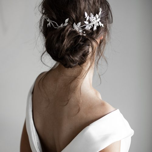 how to wear a bridal headpiece