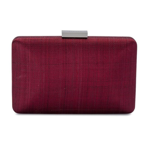 Jeanette Maree designer fashion clutch in maroon