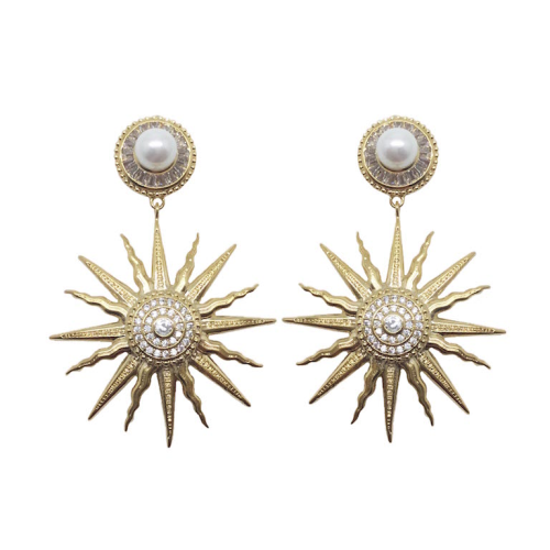 Jeanette Maree stunning pearl & gold- plated stud earring 6022