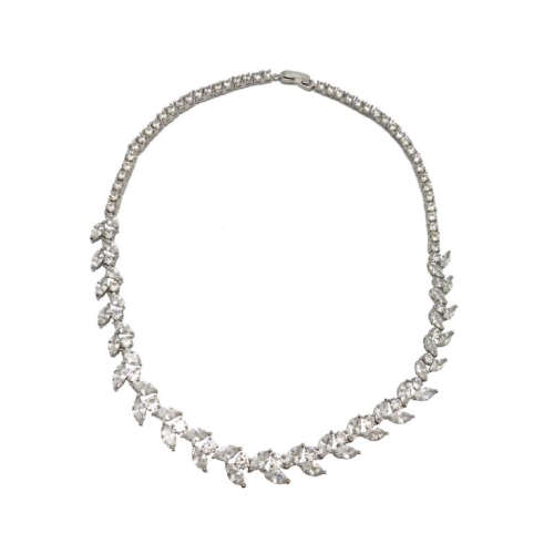 Jeanette Maree stunning diamante wedding necklace 101