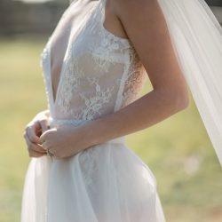 lace dress with veil